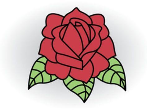 Cómo dibujar una rosa con el clásico estilo del tatuaje