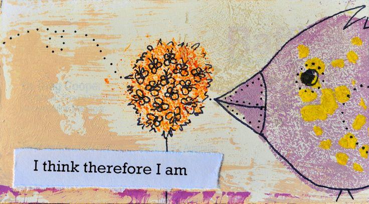 I am. Miniature art by Bea Pierce.