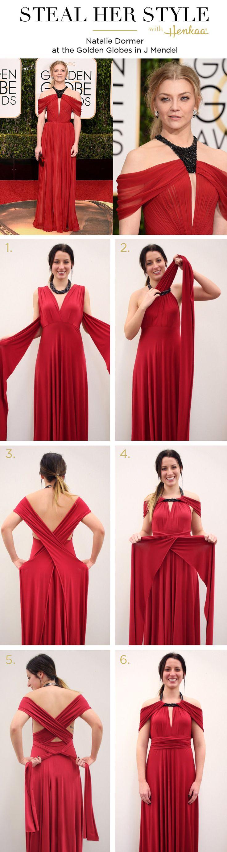 Roubar seu estilo: Natalie Dormer Globos de Ouro.  Descubra como recriado este olhar para o blog Henkaa!