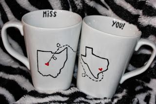 Sharpie mug. Great gift idea for a friend or family member living out of state. Also more great tips to make the sharpie mug work.
