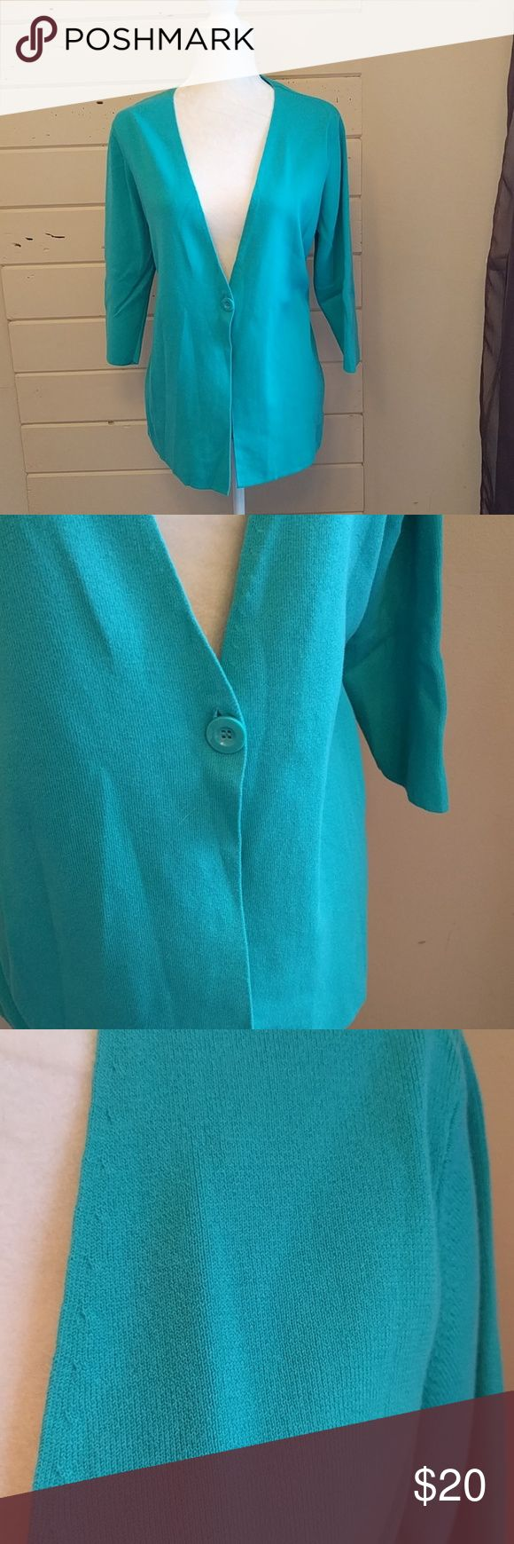 Spring+Mercer Teal cardigan Good used condition, one button Spring+Mercer Sweaters Cardigans