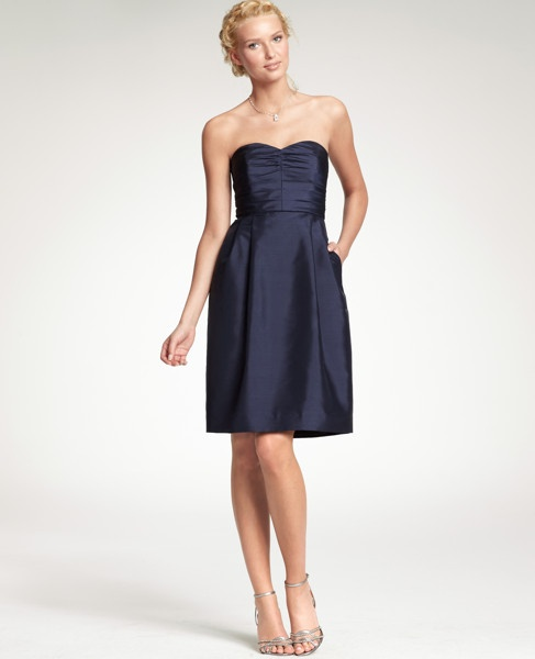 Navy Bridesmaid Dress... Ann Taylor $99