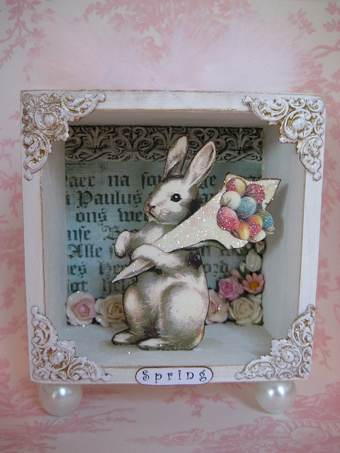Shadow Box Spring Easter Spring Easter Crafts Shadow Box Art
