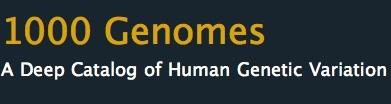 1000 Genomes.
