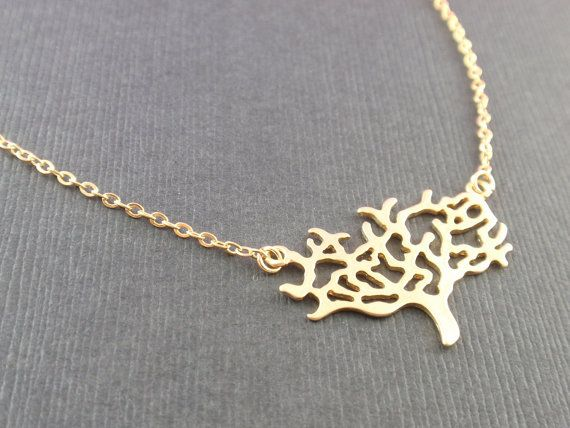 Gold Forever Tree Necklace  with 14k gold filled by siemprejewelry, $25.00