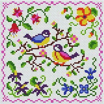 Love song hama beads spring project - chart by Cross Stitchers Club:
