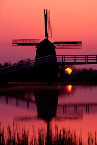 Sunset and windmills- someday I hope to take a picture like this!