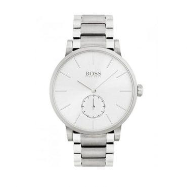 1513503 Ανδρικό quartz ρολόι HUGO BOSS Essence με λευκό καντράν & ανοξείδωτο ατσάλινο μπρασελέ | Ανδρικά ρολόγια BOSS ΤΣΑΛΔΑΡΗΣ στο Χαλάνδρι #Boss #Essence #μπρασελε #ανδρικο #ρολοι