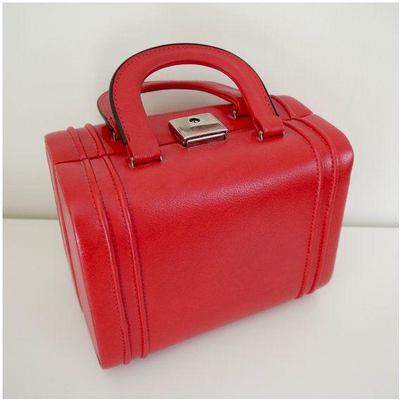 Vintage 60s Vanity Case  Vanity Bag  Makeup Bag  by Venelle