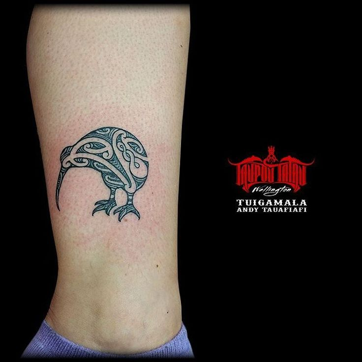 Tattoo Designs Nz: #Completed #Maori #kirituhi #Kiwibird #Kiwi On Ankle. I'll