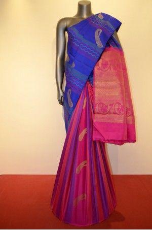 Special Hand Woven Kanjeevaram Patli Silk Saree Product Code: AC210753 Availability: 1 Price: ₹16,100