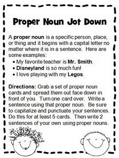 This is a great idea- will put an Indianapolis spin on it and maybe incorporate some common nouns too!