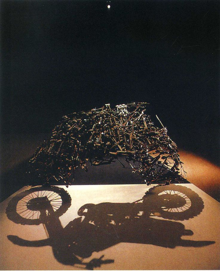 """Shadow of Motorbike"" by Shigeo Fukuda. This is just incredible."