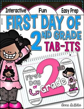 This First Day of 2nd Grade Tab-Its™ Booklet is the PERFECT activity to help your students get to know one another, think and reflect on the classroom rules, do a bit of word work, and get some first day writing in! What more could you want on the First Day of School?!