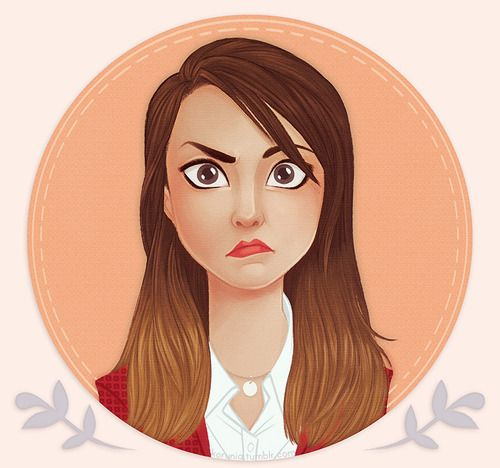 The Daria in my head is actually a fanart version of Joanna Sotomura. Original art by Korunia.