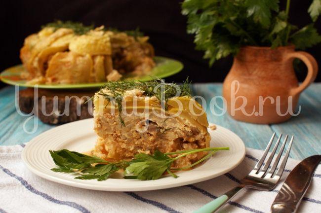 Кабачковый пирог с фаршем в мультиварке: простой и вкусный пошаговый рецепт с…