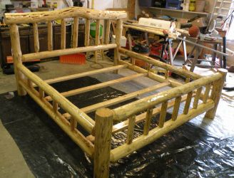 Build Rustic Log Furniture with the E-Z Kit to make Rustic Log Furniture (like above) $450