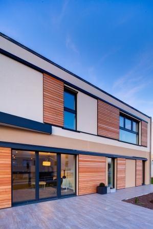 Une façade moderne pour notre maison passive à Carquefou, dans la lignée des progrès des techniques de construction que nous avons entamé.