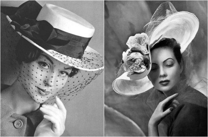 Мода и элегантность: 17 гламурных головных уборов 1950-х годов