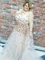This Plus-Size Custom Christian Siriano Wedding Dress Is SO Dreamy #refinery29
