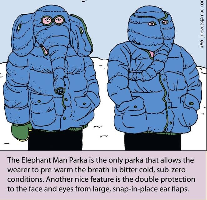 Elephant man parka