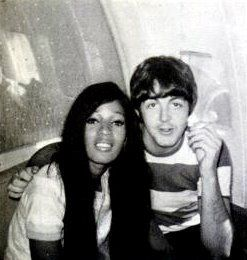 Paul McCartney and Ronnie Spector of The Ronettes. The Ronettes were the only girl group to ever toured with The Beatles.
