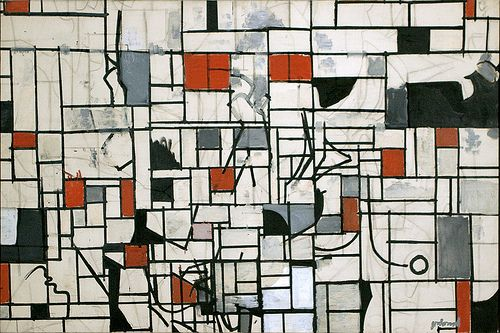 Robert Goodnough, Sheridan Squere, 1959. Oil on board 40 x 59 7/8 inches  http://www.amazon.com/American-Abstract-Figurative-Expressionism-Timeless/dp/0967799422/ref=sr_1_2?ie=UTF8&qid=1409246154&sr=8-2&keywords=Marika+Herskovic
