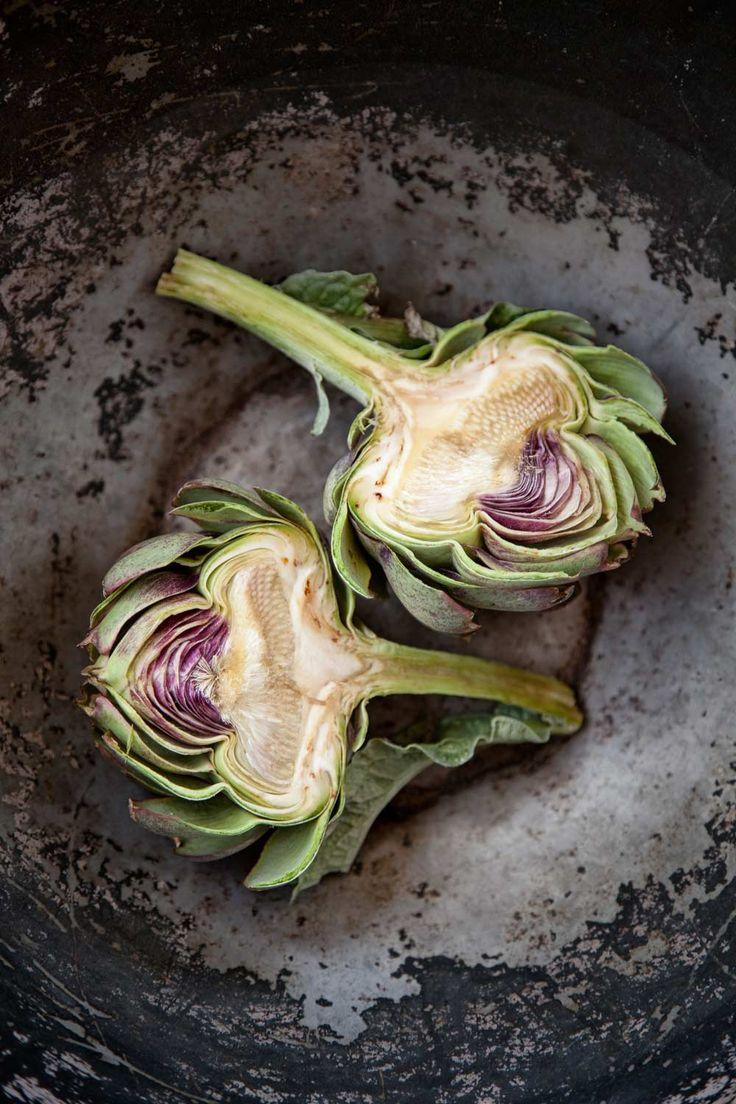 Vanessa Lewis - artichokes: an edible still life.
