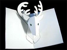 How to Make a Reindeer Pop up Card..thx Tine