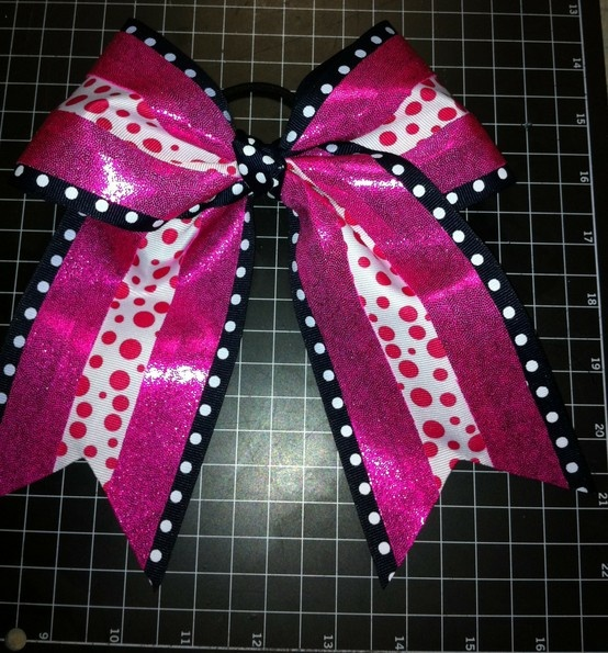 Im using cheer bow tutorials for softball bows. I think they look better.