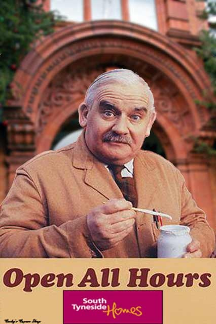 Ronnie Barker as Arkwright in Open All Hours