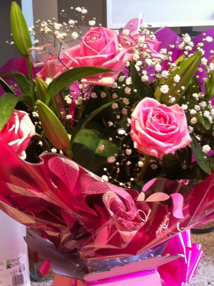 Flowers I received from a successful tv producer who started out in his career with me. Such a lovely surprise!