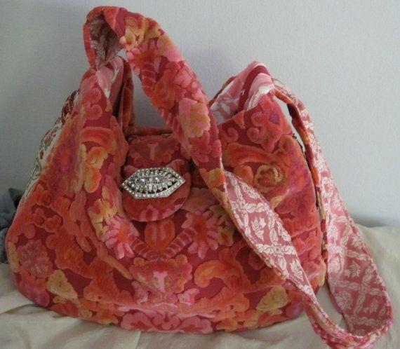 Carpet Bag ...Vintage Velvet Chenille
