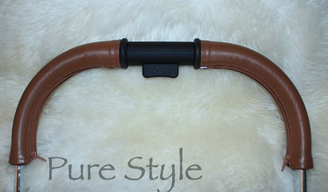Pure Style Leather Handle Bar Covers for pram's and strollers