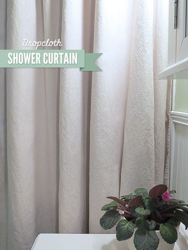 DIY Dropcloth Shower Curtain | Real Purdy