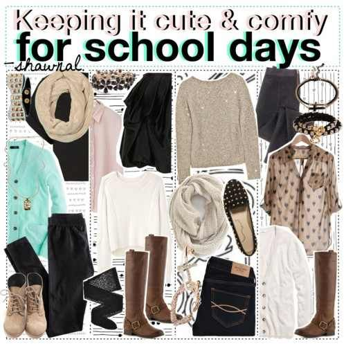 Cute and comfy outfits for school #polyvore   Outfits   Pinterest   Cute comfy outfits The o ...