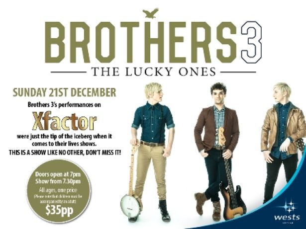 Brothers 3 will be at Wests on Sunday 21st December!! Don't miss out as tickets are selling fast - only $35 each!!