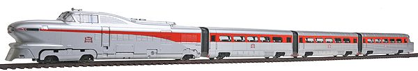 AeroTrain Set; Powered Diesel, 2 Coaches & Observation Car -- Rock Island 1958-66 (223-8746) -- Walthers Model Railroading