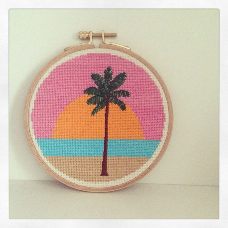 Broderie palm tree par Republique Du Chiffon