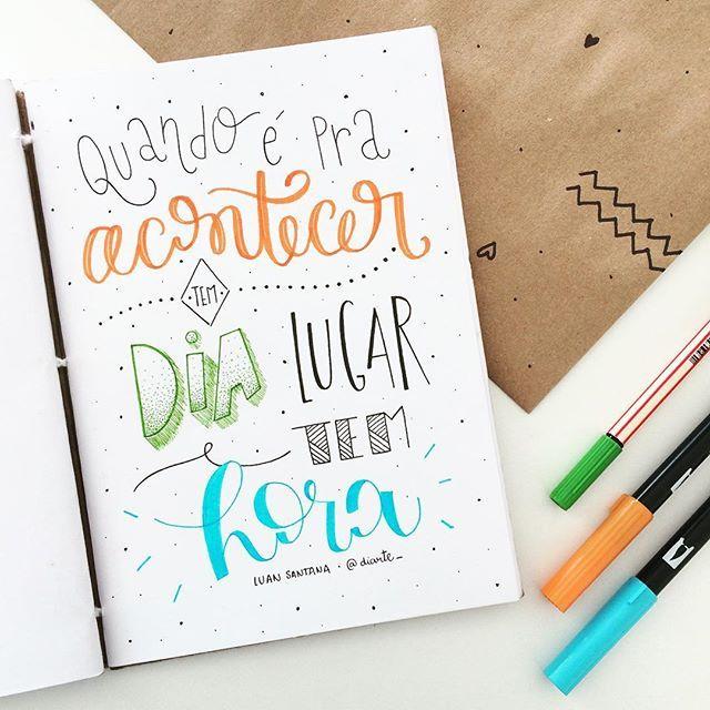 num dá pra evitar ✨ @luansantana . . . . #sketchbookdiarte #diarte_ #lettering #handlettering #handmade #type #music #art #tombow #bomdia #monday #luansantana #font