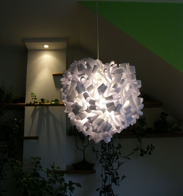 Handmade chandelier. Made from paper and wire.  Info: http://handmade-decorating.wix.com/hand