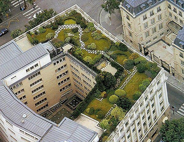 telhado verde natureza ambiente