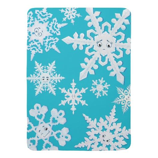 "The Lonely Snowflake blanket Swaddle Blanket. Read more about ""The Lonely Snowflake"" at: http://www.frogburps.com/snowflake_sq #TheLonelySnowflake #childrensbooks #books #kidlit #snowflakes #blanket #cute #illustrations"