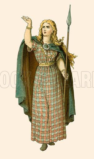 Artist concept of what Queen Boudicca looked like.