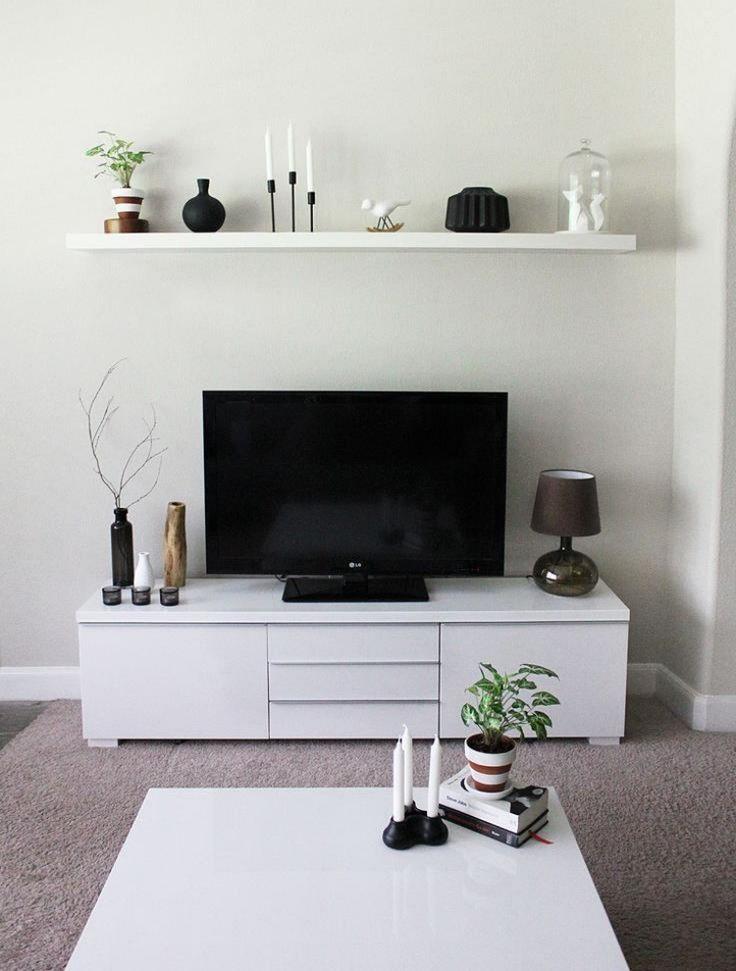 Ikea Besta Regal  Aufbewahrungssystem Tv Kosole Weiss Wandregal Modern