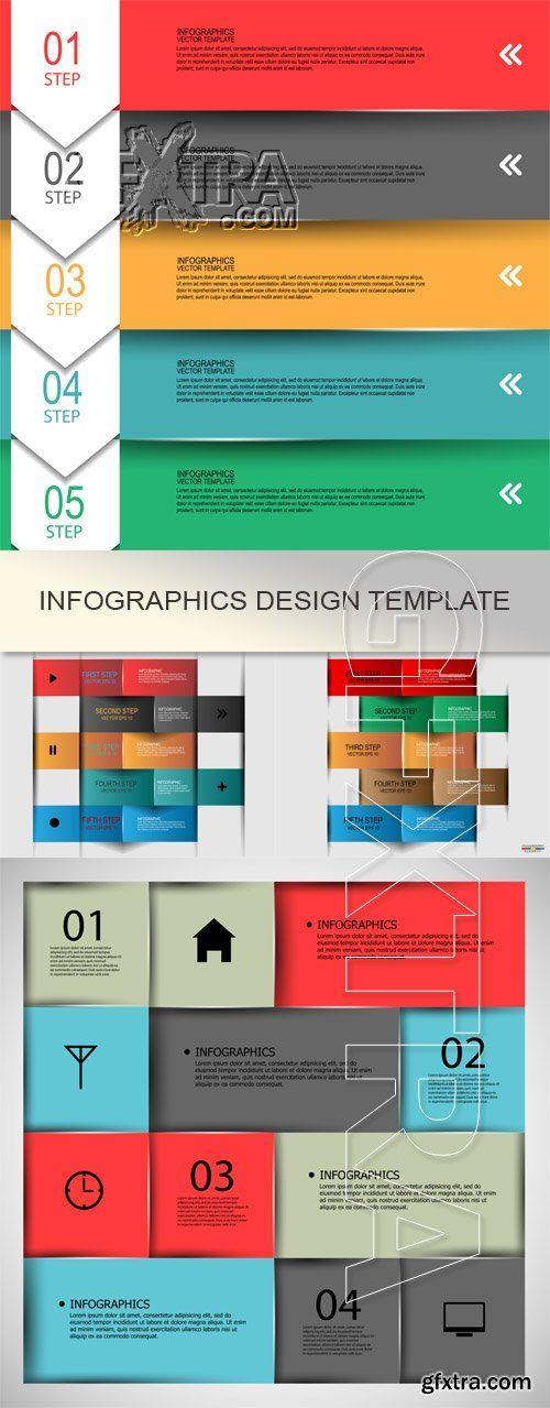 11 best gfxtra download queue images on pinterest vector infographics design template reheart Choice Image