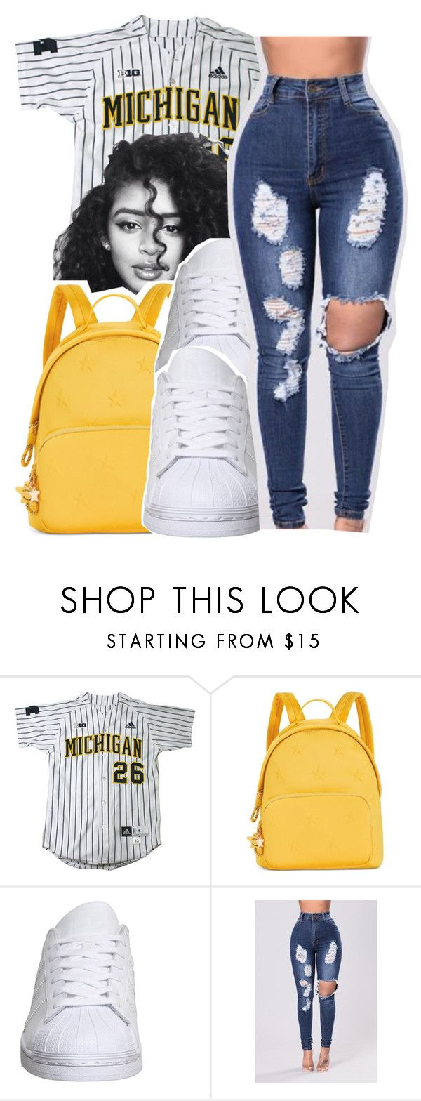 """Untitled #338"" by glowithbria ❤ liked on Polyvore featuring Tommy Hilfiger and adidas"