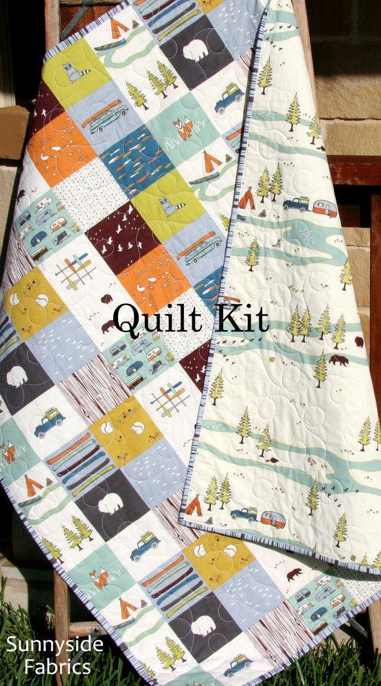 Camp Sur Quilt Kit, Panel Cheater Top Wholecloth Simple Quick