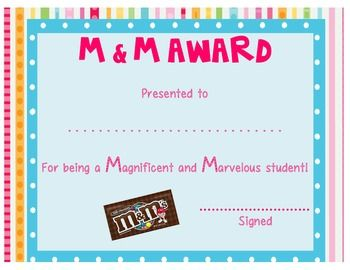 Candy Awards: End of the Year Certificates | Student, The ...