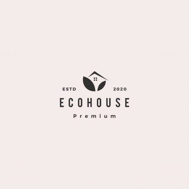 Eco House Logo Hipster Retro Vintage Icon Branding Design Logo Home Logo House Logo Icon